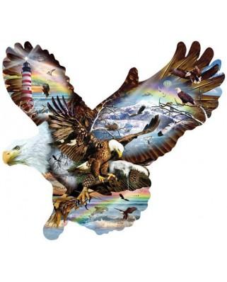 Puzzle contur SunsOut - Lori Schory: Eagle Eye, 1.000 piese (64384)