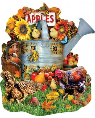 Puzzle contur SunsOut - Lori Schory: Fall Watering Can, 1.000 piese (64432)