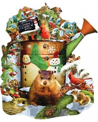 Puzzle contur SunsOut - Lori Schory: Groundhog Day, 1.000 piese (64439)