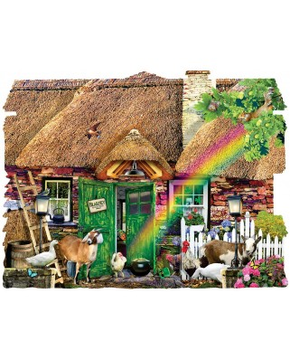 Puzzle contur SunsOut - Lori Schory: Irish Cottage, 1.000 piese (64370)