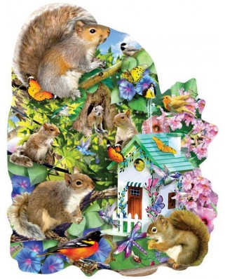 Puzzle contur SunsOut - Lori Schory: Something Squirrelly, 1.000 piese (64400)