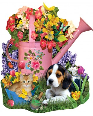 Puzzle contur SunsOut - Lori Schory: Spring Watering Can, 1.000 piese (64431)