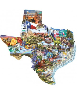 Puzzle contur SunsOut - Lori Schory: Welcome to Texas!, 1.000 piese (64378)
