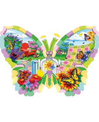 Puzzle contur SunsOut - Nancy Wernersbach: Butterfly Summer, 1.000 piese (64417)