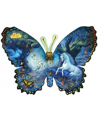 Puzzle contur SunsOut - Ruth Sanderson: Fantasy Butterfly, 1.000 piese (64376)