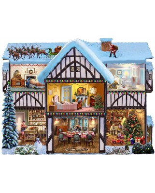 Puzzle contur SunsOut - Steve Crisp: Christmas Eve, 1.000 piese (64397)