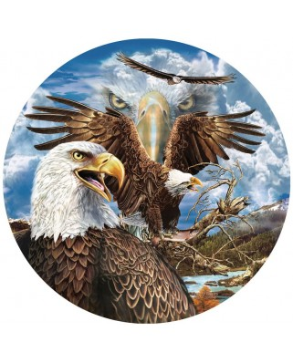 Puzzle rotund SunsOut - Steven Michael Gardner: 13 Eagles, 1.000 piese (45105)