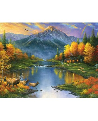 Puzzle SunsOut - Abraham Hunter: Mountain Retreat, 1.000 piese XXL (64333)