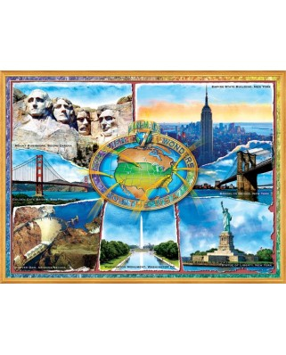 Puzzle SunsOut - Adrian Chesterman: The 7 Manmade Wonders of the U.S.A., 1.000 piese (64357)
