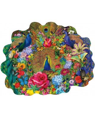 Puzzle SunsOut - Aimee Stewart: Garden Peacock, 1.000 piese (64434)