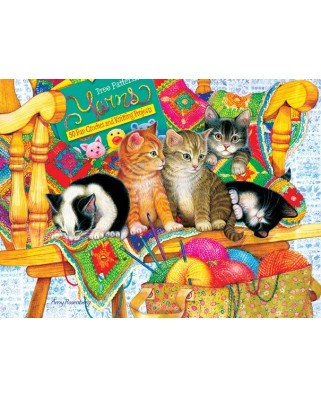 Puzzle SunsOut - Amy Rosenberg: Knit Wits, 1.000 piese (64358)