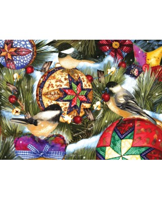 Puzzle SunsOut - Ashley Davis: Birds and Ornaments, 1.000 piese (63892)