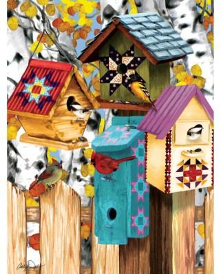 Puzzle SunsOut - Ashley Davis: Fall Birdhouses, 1.000 piese (63891)
