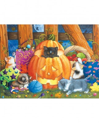 Puzzle SunsOut - Ashley Davis: Halloween Surprise, 1.000 piese (63890)