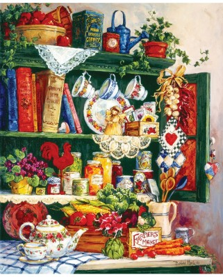 Puzzle SunsOut - Barbara Mock: Grandma's Cupboard, 1.000 piese (63992)