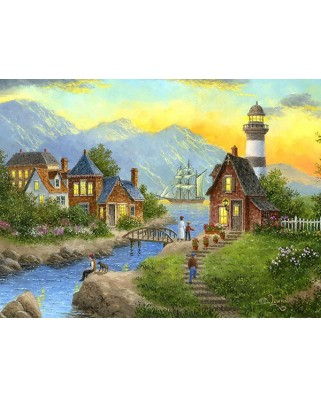 Puzzle SunsOut - Bayside Afterglow, 1.000 piese (64134)