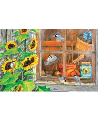 Puzzle SunsOut - Carol Decker: Sunflower Shed, 1.000 piese (63933)
