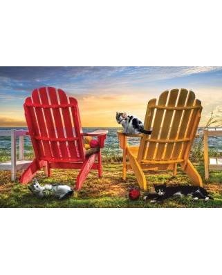 Puzzle SunsOut - Celebrate Life Gallery - Cat Nap at the Beach, 1.000 piese (63982)
