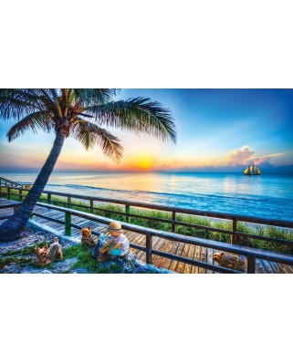 Puzzle SunsOut - Celebrate Life Gallery - End of Day Play, 550 piese (63983)