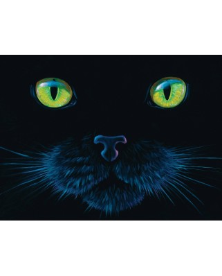 Puzzle SunsOut - Charles Lynn Bragg: Black Cat, 1000 piese (64282)