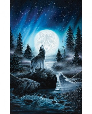 Puzzle SunsOut - Chuck Black: Call of the Pack, 550 piese (64215)