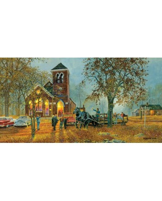 Puzzle SunsOut - Dave Barnhouse: Old Fashioned Hayride, 1.000 piese (64260)