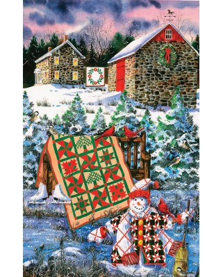 Puzzle SunsOut - Diane Phalen: A Christmas Cheer Quilt, 1.000 piese (63897)