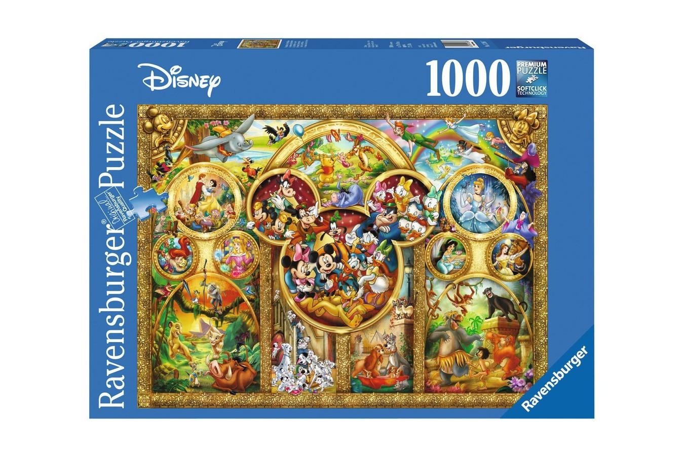 Puzzle Ravensburger - Temele Disney, 1.000 piese (15266)