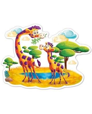 Puzzle contur Castorland - Giraffes In Savanna, 12 piese XXL (120178)