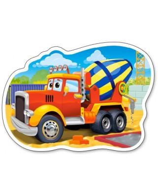 Puzzle contur Castorland - Concrete Mixer Truck, 15 piese (15191)