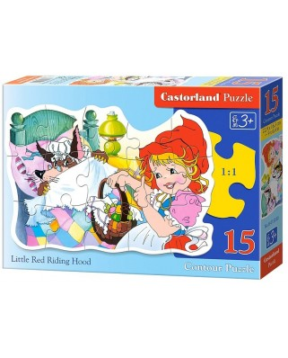Puzzle contur Castorland - Little Red Riding Hood, 15 piese (15030)