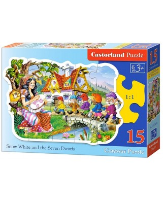 Puzzle contur Castorland - Snow White And The Seven Dwarfs, 15 piese (15085)