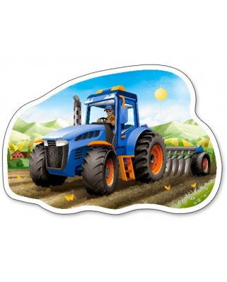 Puzzle contur Castorland - Tractor At Work, 15 piese (15184)