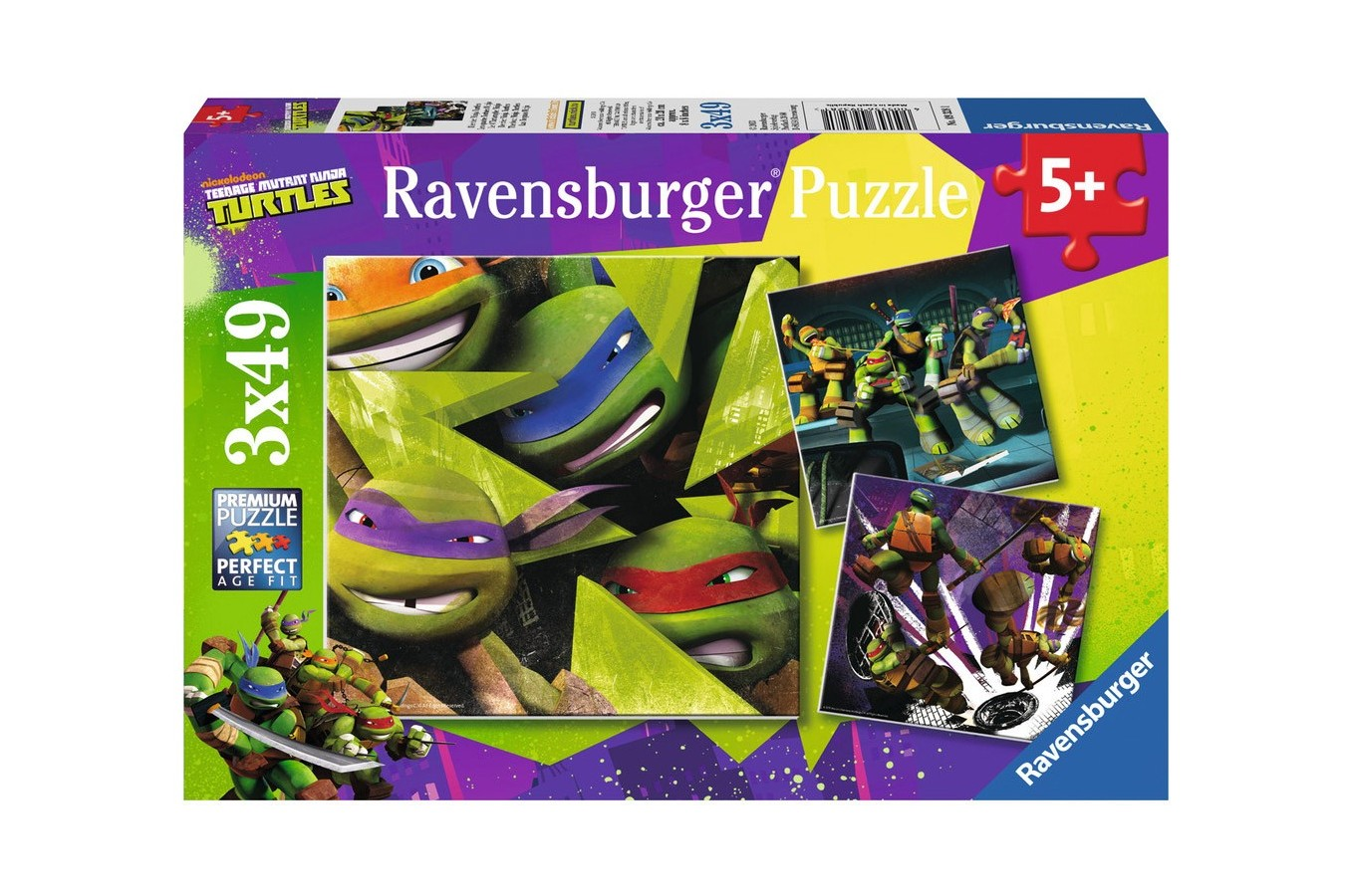 Puzzle Ravensburger - Testoasele Ninja, 3x49 piese (09328)