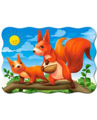 Puzzle Castorland - Squirrel Mom And Her Baby, 30 piese (3693)