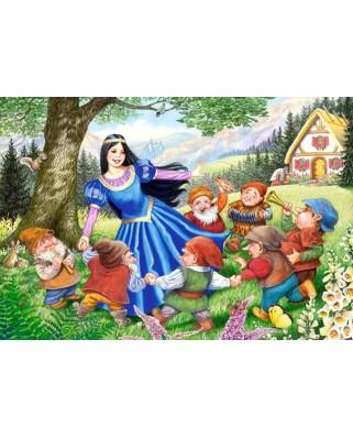 Puzzle Castorland - Snow White And The Seven Dwarfs, 40 piese XXL (40049)