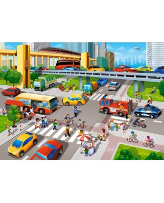Puzzle Castorland - City Rush, 60 piese (66131)