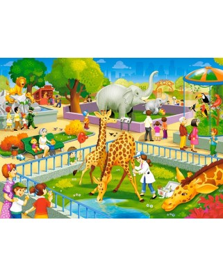Puzzle Castorland - Zoo Visit, 60 piese (66155)