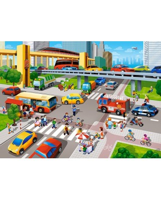 Puzzle Castorland - City Rush, 70 piese (70039)