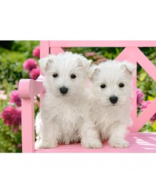Puzzle Castorland - White Terrier Puppies, 120 piese (13494)