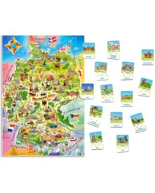 Puzzle Castorland - Deutschlandkarte, 180 piese (E-180)