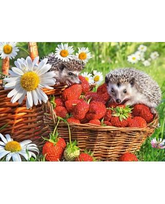 Puzzle Castorland - Strawberry Dessert, 200 piese (222025)