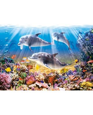 Puzzle Castorland - Dolphins Underwater, 500 piese (52547)