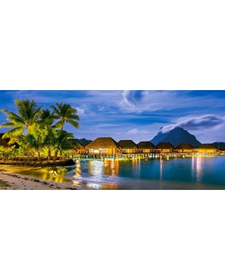 Puzzle panoramic Castorland - French Polynesia, 600 piese (60320)