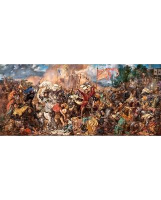 Puzzle panoramic Castorland - The Battle Of Grunwald, Jan Matejko, 600 piese (60382)
