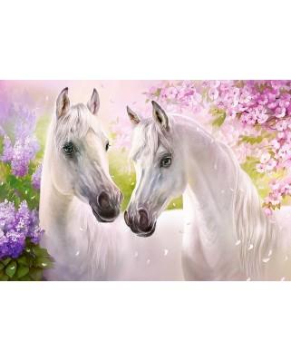 Puzzle Castorland - Romantic Horses, 1.000 piese (104147)