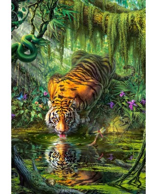Puzzle Castorland - Tiger In The Jungle, 1.000 piese (103935)