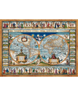 Puzzle Castorland - Map Of The Word, 2000 piese (200733)