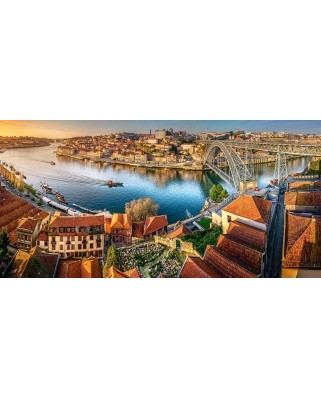Puzzle panoramic Castorland - The Last Sun On Porto, 4.000 piese (400232)