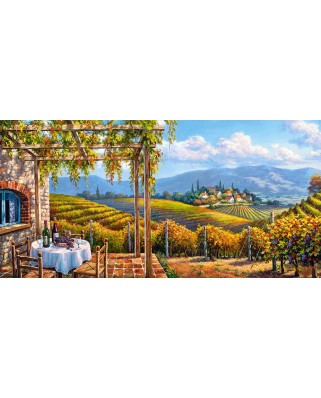 Puzzle panoramic Castorland - Vineyard Village, 4.000 piese (400249)